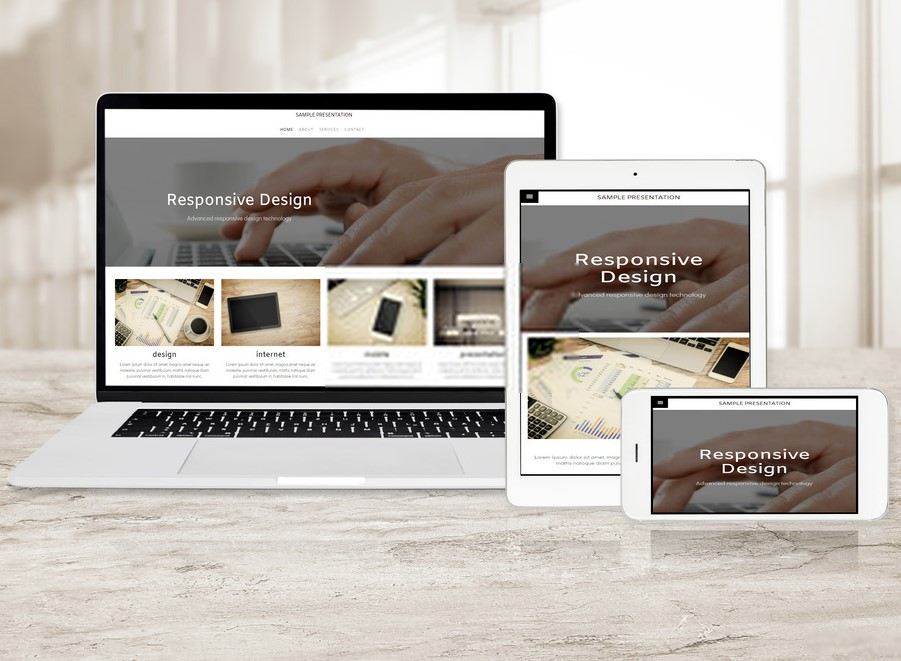 custom responsive web design homepage